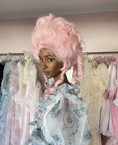 Space Fashion, Pink Wig, Vintage Princess, Wig Making, Susan Sontag, Marie Antoinette, Aesthetic Pictures, Girly Things, Cute Fashion