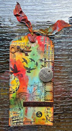 Tim Holtz inspired May tag of 2013