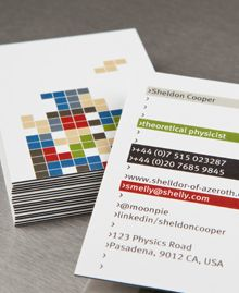 MOO cards have a Sheldon Cooper design! With a TETRIS game!!! Awesome!