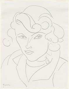 """Themes and variations (Annelies) A13"" in 1946 by Henri Matisse"