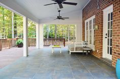 Jessica this is a good example of an outdoor patio/sunroom.  young house love patio