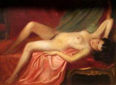 Reclining nude by Gyula Asztalos, Hungary