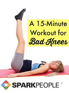 A 15-Minute Lower-Body Workout for Bad Knees. This workout has been a life-saver for my knees--and I really work up a sweat, too! | via @SparkPeople #workout #fitness #health