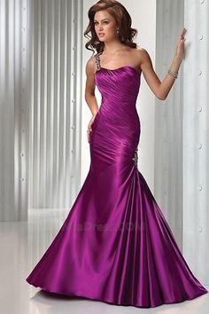 Caída Até o chão Glamour & Dramática Corpete plissado Vestido de noite - Página 1