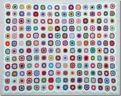 Flowers in the Snow ~ pattern in English and tutorial on join as you go, brilliant share, thanks so xox