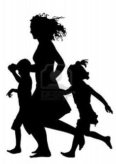 Another idea for a silhouette tattoo- me, Bella, and Noah