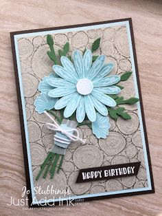 Jo's Stamping Spot - Just Add Ink Challenge #378 using Beautiful Bouquet and Daisy Delight by Stampin' Up!