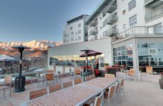 Palmyra Decks - perfect for Après ski & a great viewing place to see fire dancers at the Fire Festival Jan. Telluride Hotels, Telluride Colorado, Fire Festival, Palmyra, Mountain Village, Hotel Deals, Resort Spa, Places To See, Street View