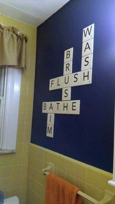 Bathroom Scrabble - Awesome!