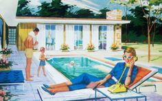 vacation.quenalbertini: Poolside | artist unknown
