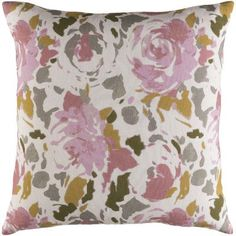 "Alcott Hill Hansa Throw Pillow Size: 18"" H x 18"" W x 4"" D, Color: Red/Pink"