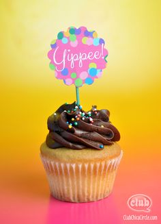Celebratory Cupcake Toppers Free Printable | Tween Craft Ideas for Mom and Daughter