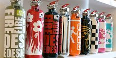 Fire extinguishers as beautiful decorative objects by Fire Design Design Blog, Deco Design, Creative Design, Design Design, Design Ideas, Jetta A4, Red Canisters, Cool Fire, Fire Fire