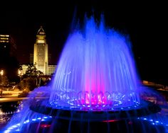 Fountain at Grand Park in Downtown Los Angeles.