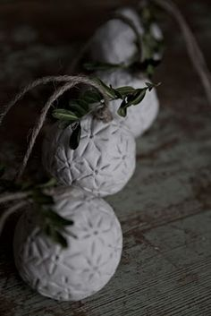 ornaments, maybe make from salt dough then paint
