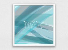 Imagine Print Digital Download Minimalist Wall Art Modern | Etsy Green Wall Decor, Inspirational Wall Art, Vinyl Wall Art, Abstract Print, Printing Services, Printable Art, Minimalist, Digital, Create
