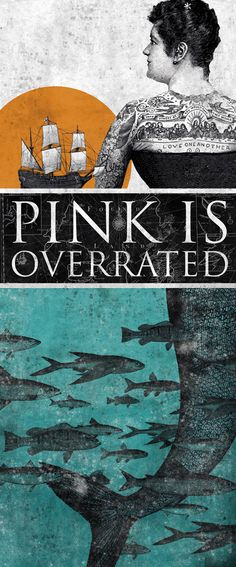 PINK IS OVERRATED printed on blueback paper