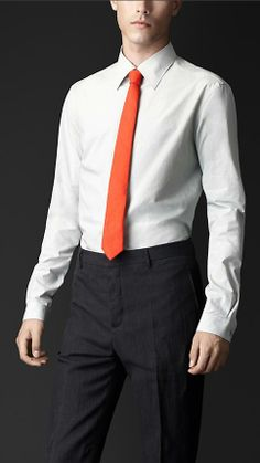 Burberry Prorsum Tumbled Cotton Slim Fit Shirt