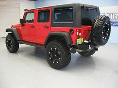 2015 Red #Jeep Wrangler Unlimited Sport http://www.iseecars.com/used-cars/used-jeep-for-sale#id=100138844435