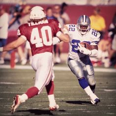 #TBT - #AZCardinals safety Pat Tillman closes in on Dallas Cowboys RB Emmitt Smith. #AZvsDAL | #azlotteryPOTD | #azlottery