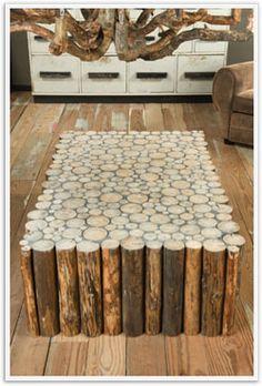 Diy Log Coffee Table Gallery Design Ideas