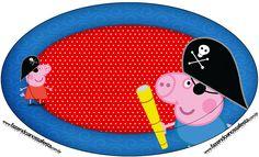 Placa George Pig Pirata (Peppa Pig):