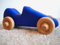 Small+Wooden+Toy+Race+Car+Painted+Blue+by+shepherdswoodworking,+$5.75