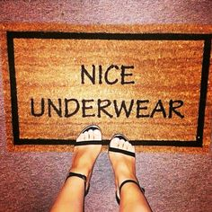 What do you girls think to my new doormat?  tag your mates #CheekyBlanc