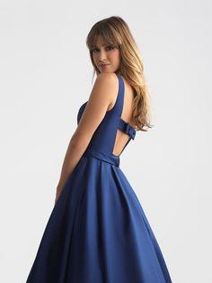 4b76322db4cd4b  ghgies prom dress simple sweet navy bow Your Prom