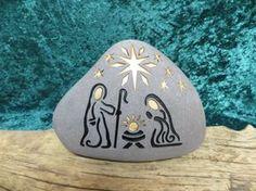 NATIVITY Engraved Natural Stone Unique Collectable di SandStudios