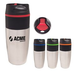 They will be sipping in style with this sleek 16 oz. stainless steel metro tumbler! With a double wall construction for insulation of hot or cold liquids, the BPA free product meets all FDA requirements. To keep your favorite beverage in the cup, there is a convenient spill-resistant thumb-slide lid. Make this practical promotion a great giveaway at corporate events, tradeshows, and even fundraisers. With an imprint of your logo or company name, this mug is one way to get your brand in…