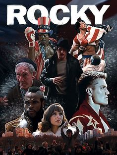 Rocky (Slyvester Stallone) is my hero. He inspires me to push forward and I love the Rocky series It is very motivational Cinema Tv, Cinema Posters, Film Posters, Classic Movie Posters, Movie Poster Art, Classic Movies, Rocky Series, Rocky Film, Rocky 3