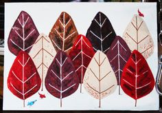 Une forêt de feuilles Wolf, Father, Table Lamp, Illustrations, Home Decor, Simple Paintings, Fresh, Leaves, Drill Bit