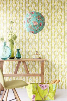 wallpaper from the Flamenco collection by Eijffinger (http://www.eijffinger.com/en/products/types/248/collection/248/1) ~ via 101woonideeen