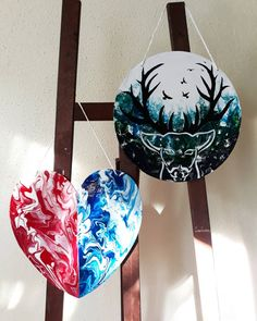 Mine 🖼 Love them!❤ #pouringart #fluidacrylics #fluidacrilycpaint #art #abstractart #handmade #love #heart #deer #paint #paintings #red… Fluid Acrylics, Deer, Abstract Art, Love, Handmade, Painting, Instagram, Amor, Hand Made