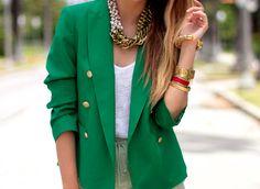 I love coloured blazers