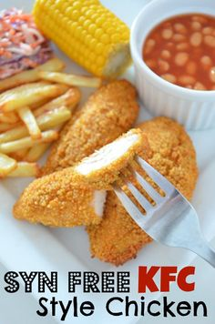 slimming world concepts Syn free KFC type hen. *Slimming world pleasant* A scrumptious home-made KFC Slimming World Dinners, Slimming World Chicken Recipes, Slimming World Diet, Slimming Eats, Slimming Recipes, Slimming World Lunch Ideas, Slimming World Fakeaway, Slimming World Desserts, Slimming World Breakfast