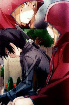 Asuna, Kirito, sad; Sword Art Online