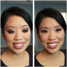 Bridal makeup. MAC airbrush makeup. Asian bride. Dallas brides. Dfw. Wedding makeup. Purples and pinks