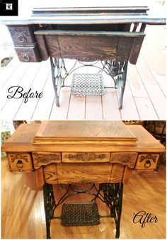 Antique Treadle Sewing Machine Cabinet Repair and Upcycle