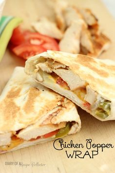 Hot-Pressed Chicken Popper Wrap -Diary of a Recipe Collector