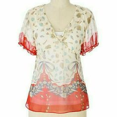 "| Anthropologie | Fei brand 100% silk blouse | excellent condition | 16"" bust,  22"" long Anthropologie Tops Blouses"