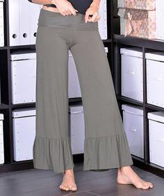 Olive Ruffle Lounge Pants - Women & Plus #zulily #zulilyfinds