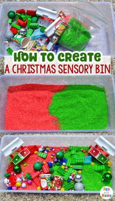 Trendy holiday activities for kids christmas sensory play Toddler Preschool, Toddler Crafts, Preschool Activities, Kids Crafts, Preschool Learning, Christmas Activities For Toddlers, Christmas Crafts For Kids, Christmas Tree, Sensory Bins