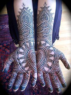 I think mehndi decorations look like pretty lace