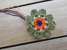 Crochet flower by knittingbluester
