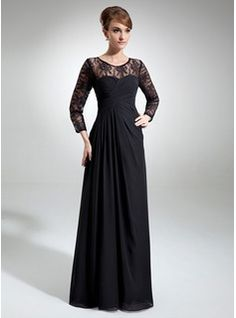 Mother of the Bride Dresses - $175.99 - A-Line/Princess Scoop Neck Floor-Length Chiffon Lace Mother of the Bride Dress With Ruffle  http://www.dressfirst.com/A-Line-Princess-Scoop-Neck-Floor-Length-Chiffon-Lace-Mother-Of-The-Bride-Dress-With-Ruffle-008006103-g6103