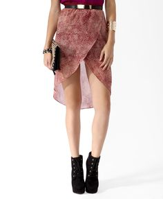 Speckled high-low skirt $17.80 #thefallmovement