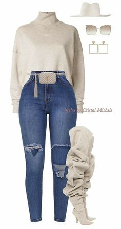 - Chic outfits - The Effective Pictures We Offer You About autumn outfits women jeans A quality picture can tell you many things. You can find the most beautiful pictures t Cute Swag Outfits, Classy Outfits, Stylish Outfits, Mode Outfits, Winter Outfits, Fashion Outfits, Womens Fashion, Woman Outfits, Night Outfits