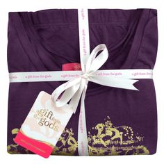 Women's Heart Design Plum Pyjamas Gift Set For Her | A Gift From The Gods - be gift wrapped.